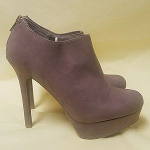 Shoes - Tan Booties / Ankle Boots with 5.5 inch heel
